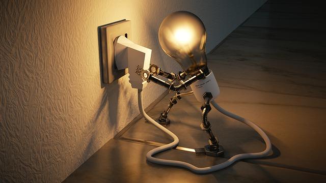 Glühbirne, Stecker, Energiesparen